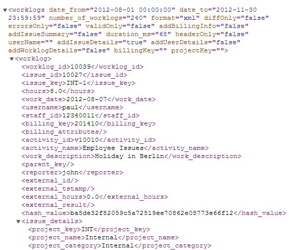 API XML Example