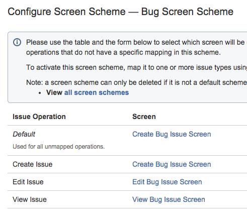 Configure Screen Scheme in Jira