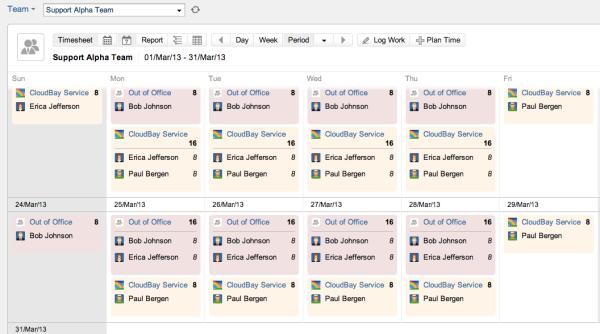 Team Calendar Planning View