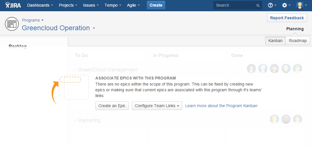 Empty States in Tempo Planner for JIRA