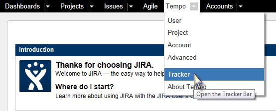 Tempo User Start Timer Main Menu
