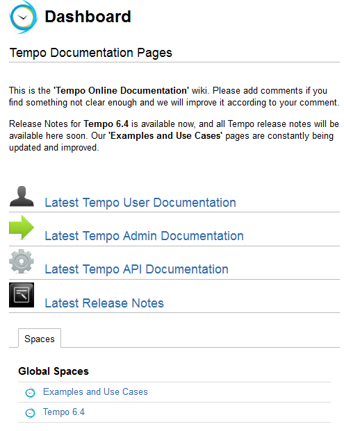 Tempo Documentation Wiki - Welcome