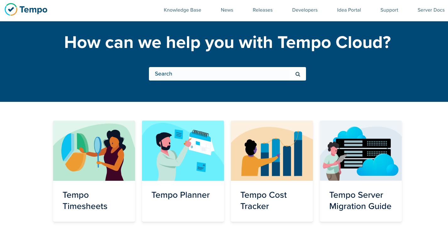 New Tempo Help Center