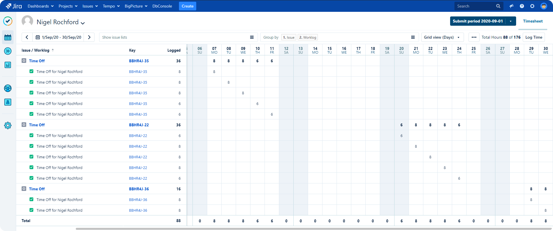 Timesheets New Verve