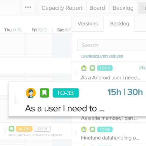 Jira capacity planning tool - Team timeline