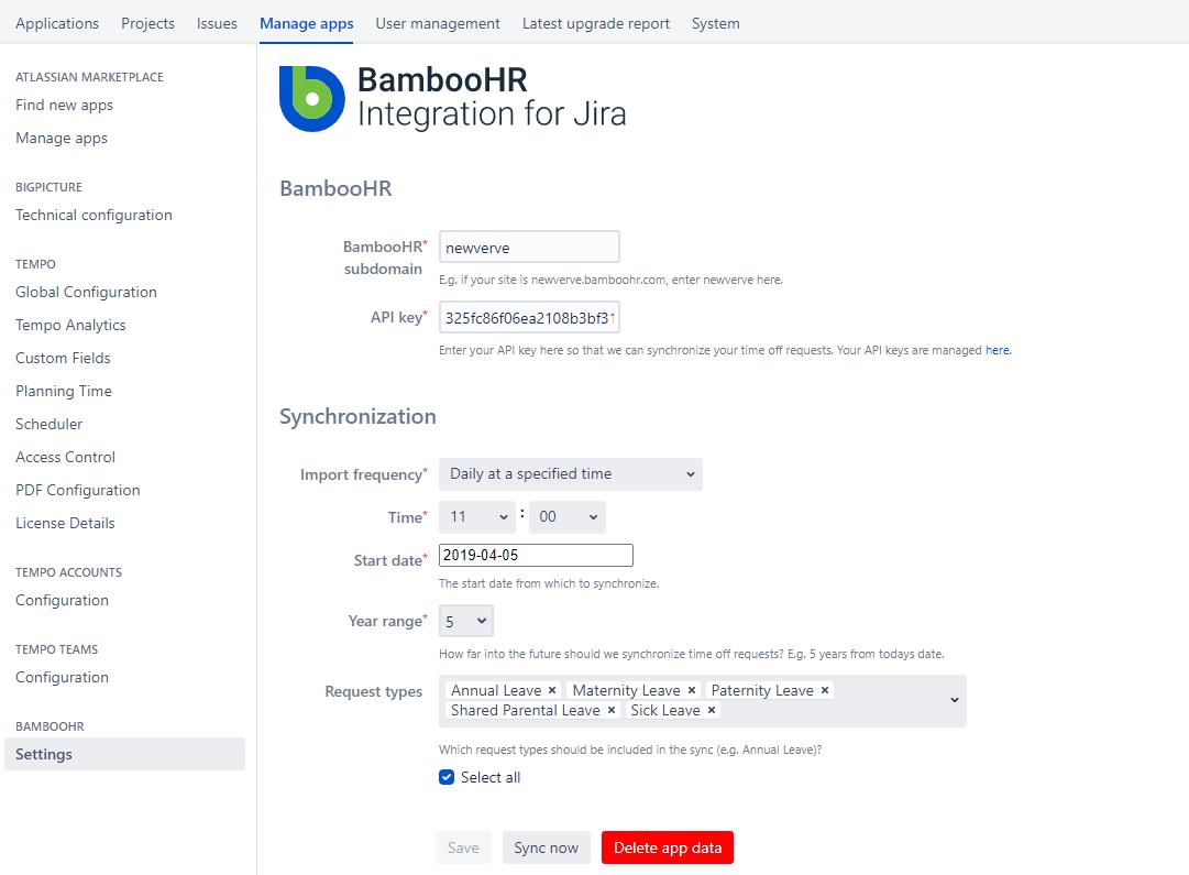 BambooHR Integration for Jira