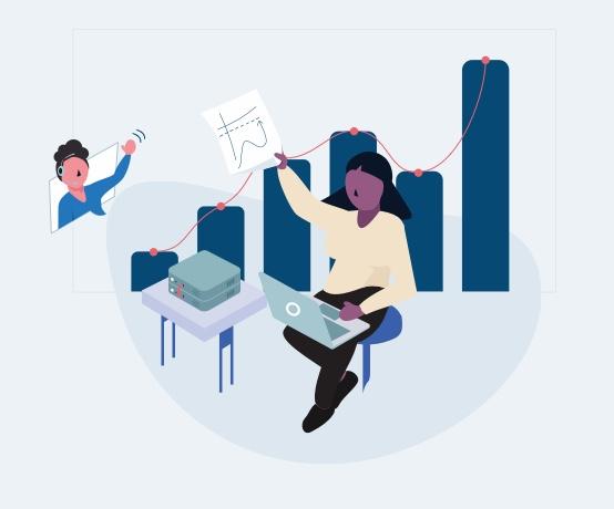 Remote teams illustration
